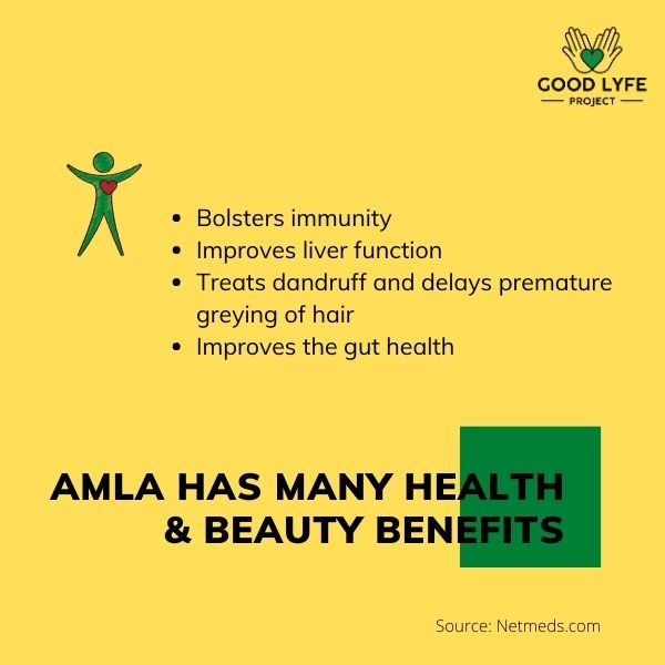 Buy Online Amla Powder Certified Organic India Made Good Lyfe project Nutrition Benefits
