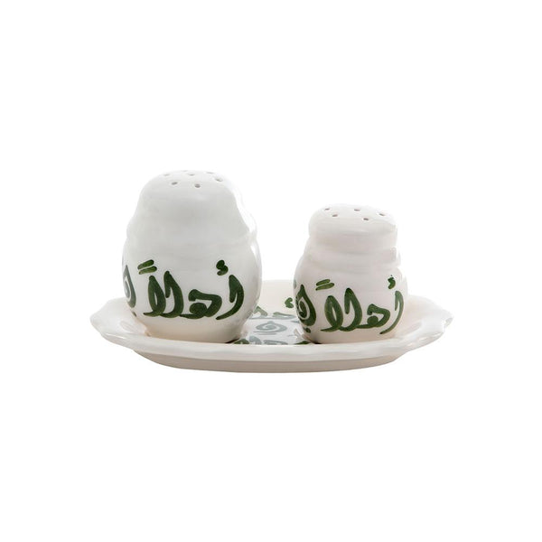Ahlan Wa Sahlan Salt & Pepper Hand Painted Ceramic Shakers