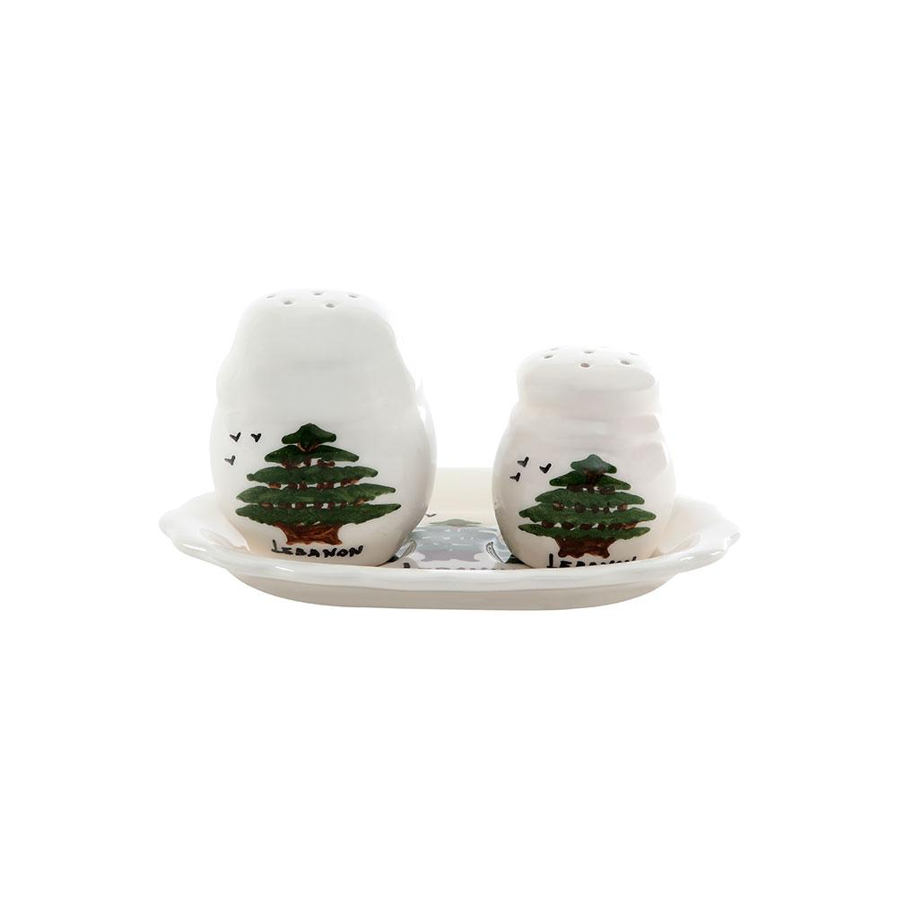 Mouftah El Chark Cedar Salt & Pepper Hand Painted Porcelain Shakers