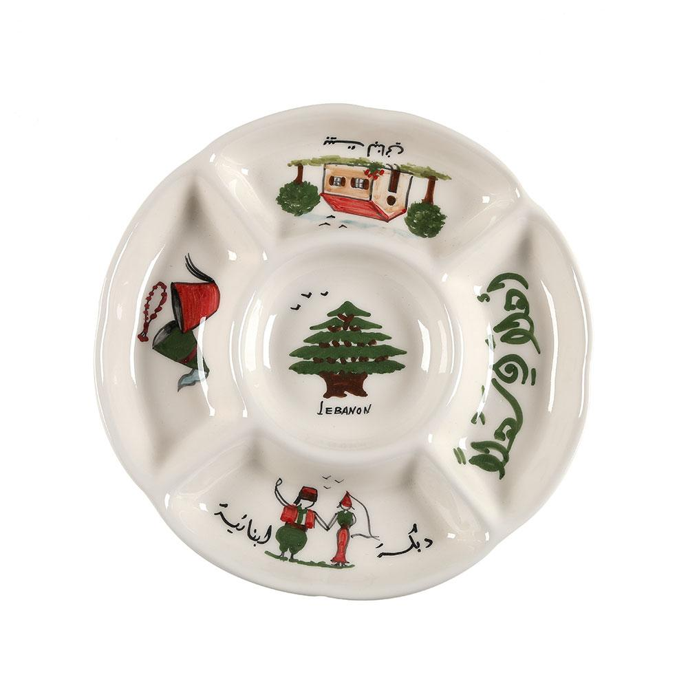 Lebanon Hand Painted Ceramic Multifunctional Plate