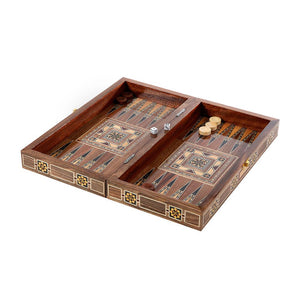 Mini Oriental Backgammon & Chess Board
