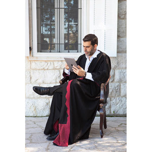 Mouftah El Chark Black and Red Wool Abaya