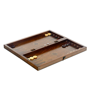 Antique Backgammon & Chess Board