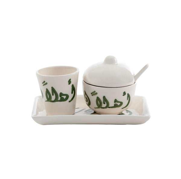 Ahlan Wa Sahlan Sugar & Water Hand Painted Ceramic Set