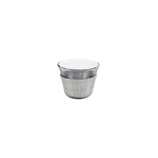 Aluminium & Gold Coffee Cups - Set of 6