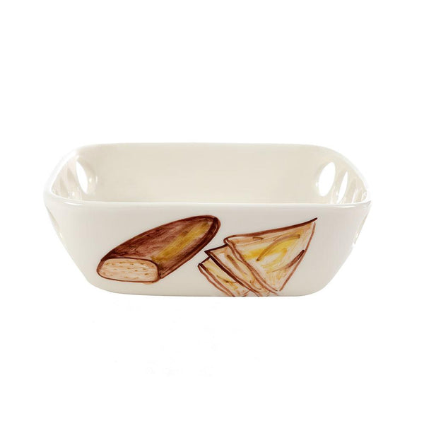 Bread Hand Painted Ceramic Serving Bowl