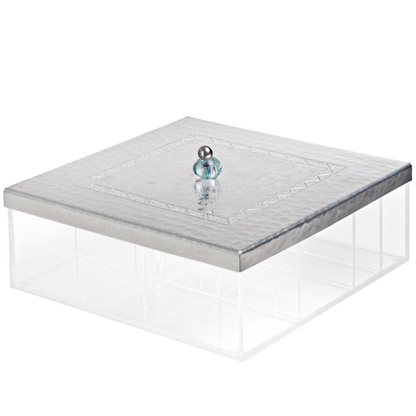 Aluminium Tea Box - 9 compartments