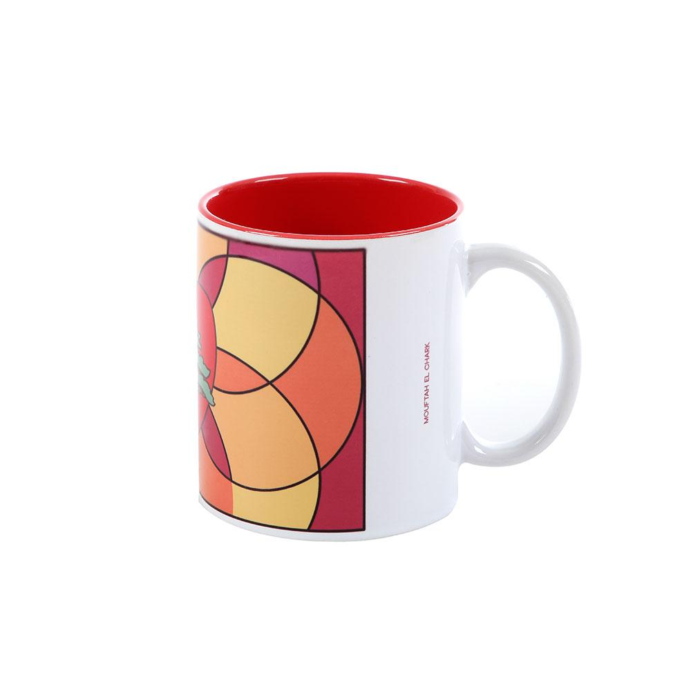 Red In the Heart Multicolor Porcelain Mug