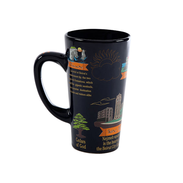 Lebanese Touristic Sites Porcelain Mug