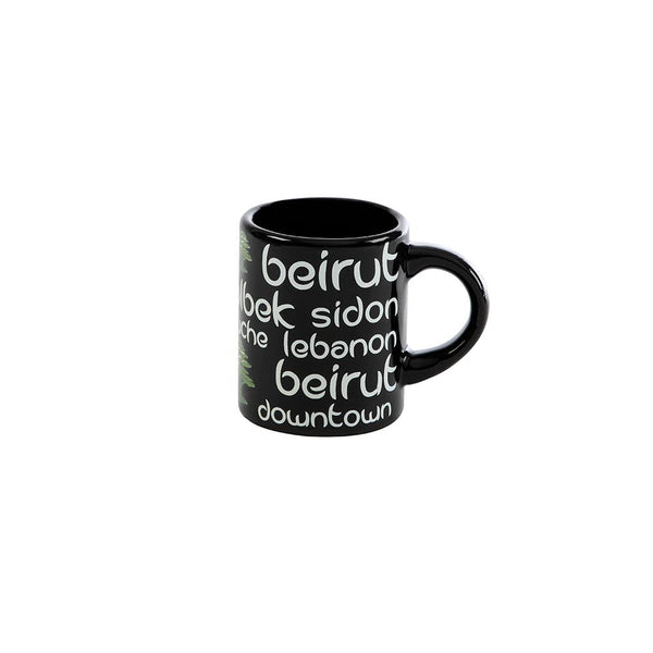 Black Lebanon Mini Porcelain Mug