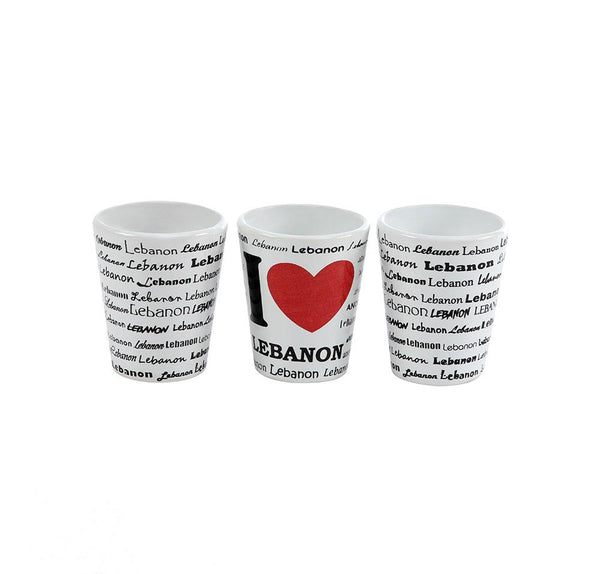 Lebanon Porcelain Shots - Set of 3