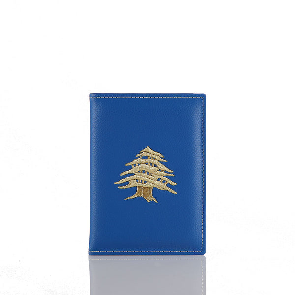 Blue Cedar Passport Holder