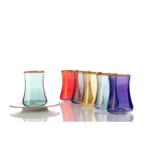 Rainbow Tea Cups - Set of 6