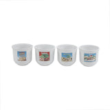 Mouftah El Chark Lebanese Stamps Coffee Cups - Set of 4