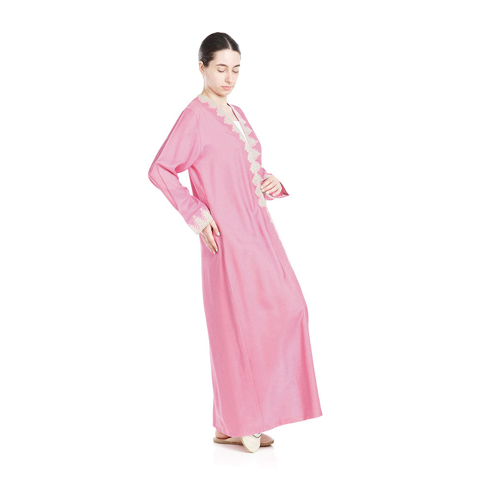 Relax In Style Abaya - Candy Pink