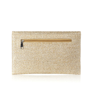 Evil Eye Clutch - Beige
