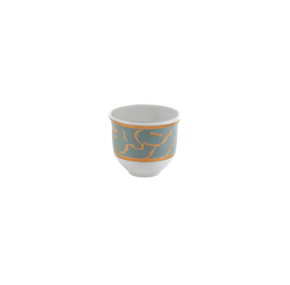 Mouftah El Chark Gold & Grey Coffee Cups - Set of 6
