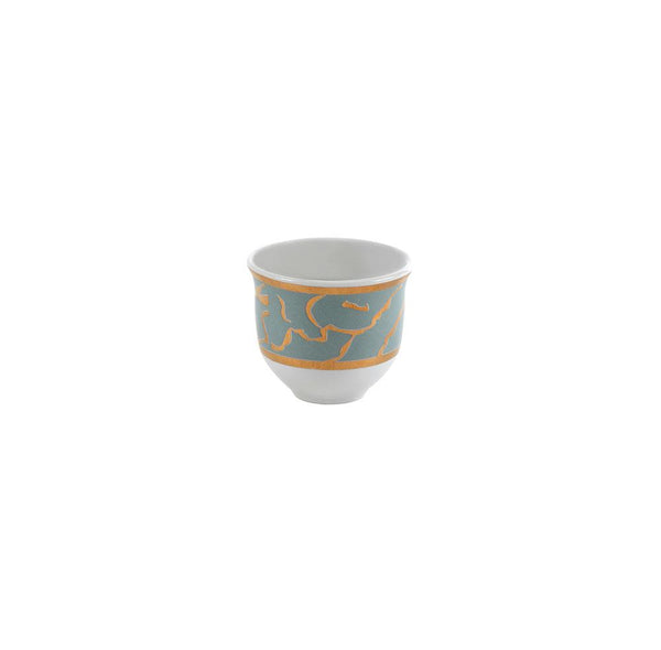 Gold & Grey Coffee Cups - Set of 6