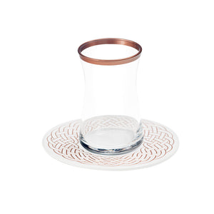 Rose Gold Tea Cups - Set of 6