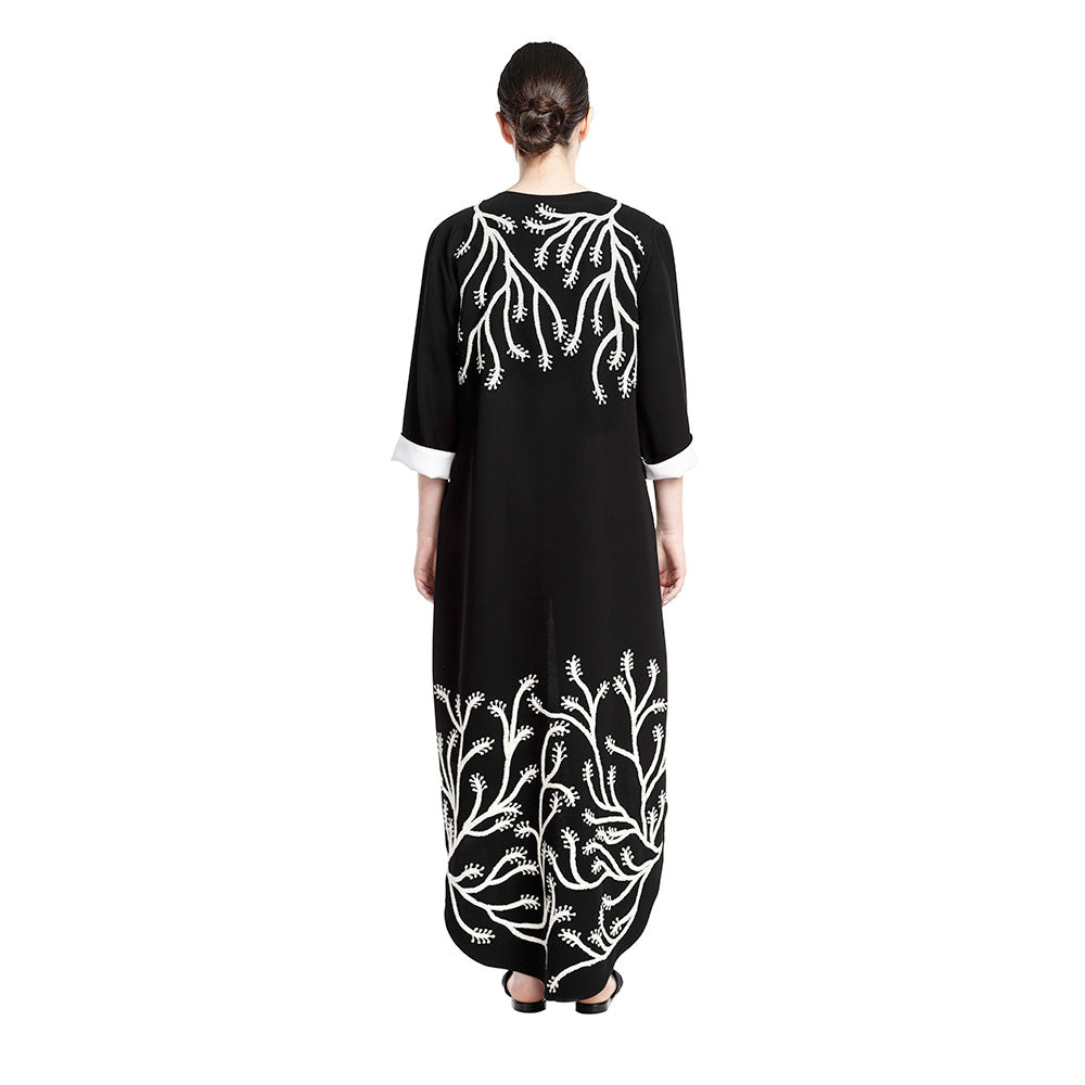 Tree of Life Abaya - Black