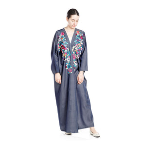 Jeans Floral Abaya