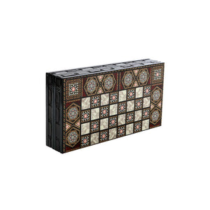 Mini Dark Brown Backgammon & Chess Board