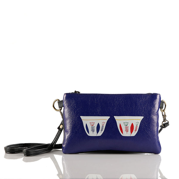 Blue Chaffe Crossbag