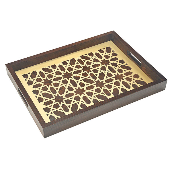 Golden Moucharabieh Tray