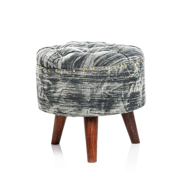 Acid Wash Pouf - Grey