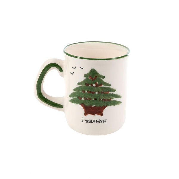 Cedar of Lebanon Hand Painted Ceramic Mug