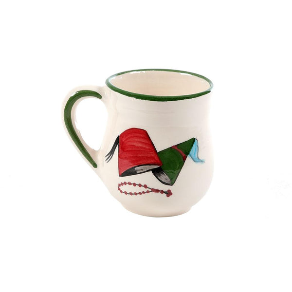 Lebanese Tarbouch Hand Painted Ceramic Mug