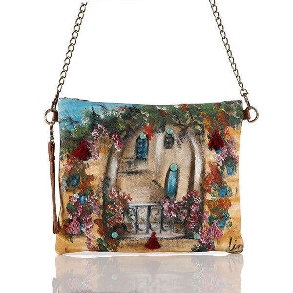 Hand Painted Lebanese House Crossbag
