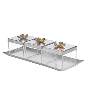 Square Orchid Boxes With Tray