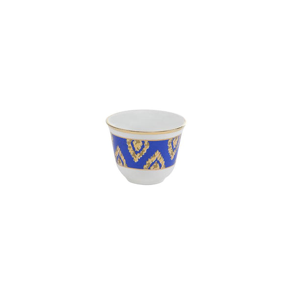 Blue & Gold Coffee Cups - Set of 6