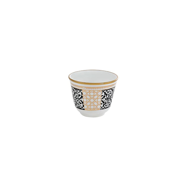Black & Gold Arabian Coffee Cups - Set of 6