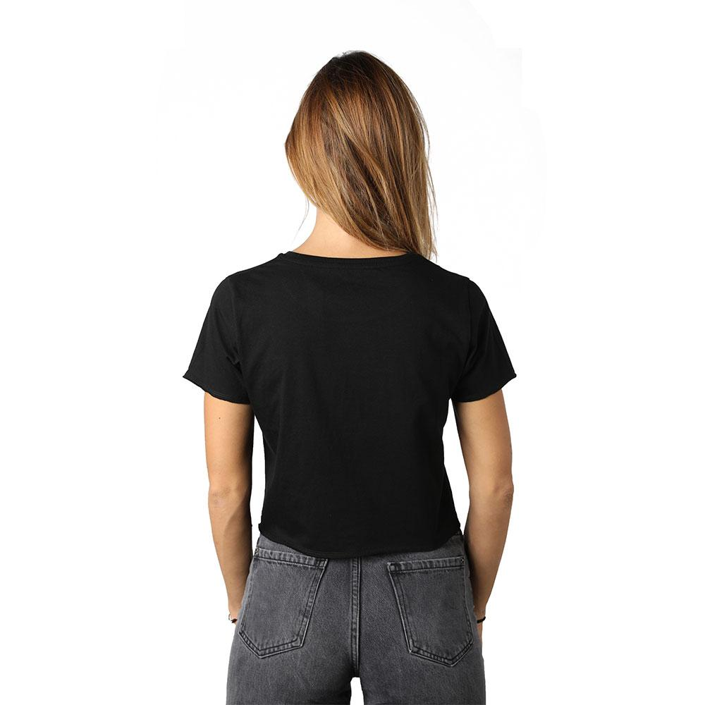Tall l Qamar Black Crew Neck Crop Top