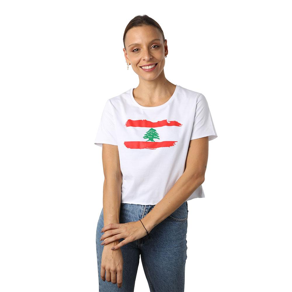 Lebanon Crew Neck Crop Top