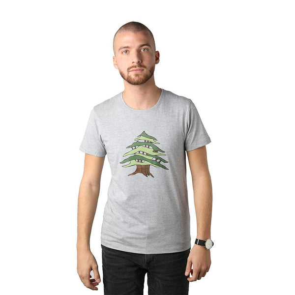 Cedar of Lebanon Grey Men's T-shirt