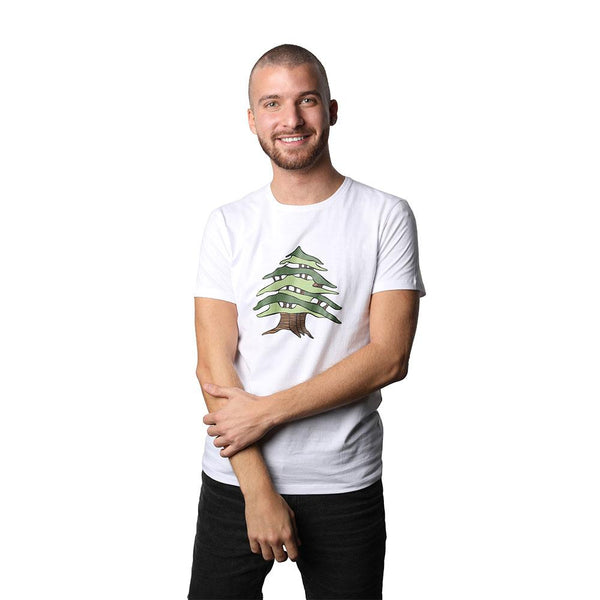 Cedar of Lebanon White Men's T-shirt