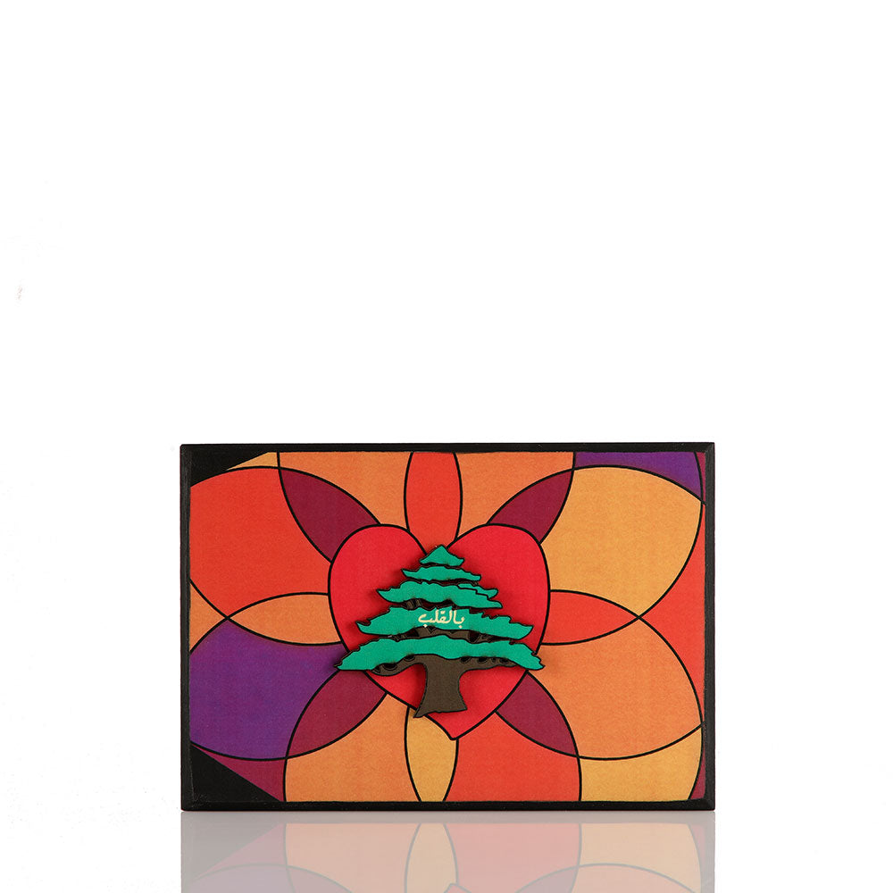 In the Heart Multicolor Wood Poster