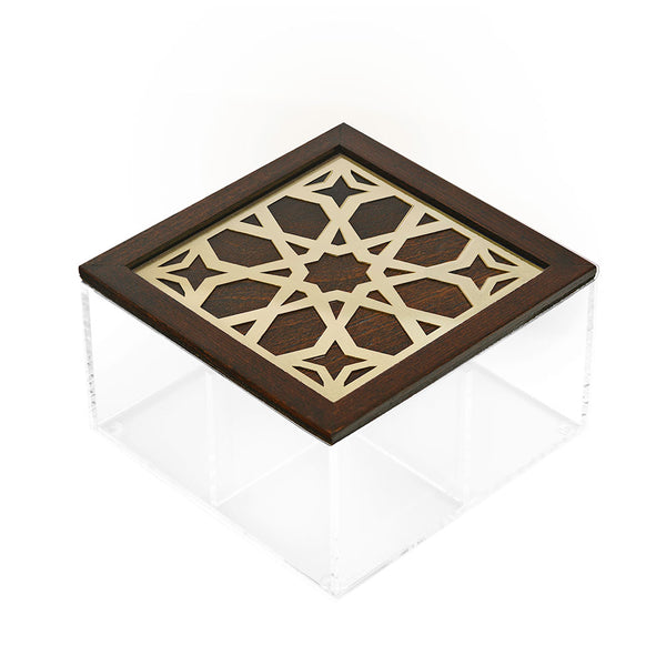 Gold Moucharabieh Tea Box - 4 compartments