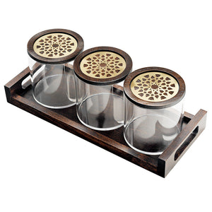 Round Moucharabieh Boxes With Tray