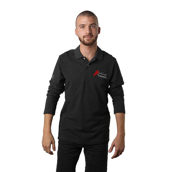 Long Sleeves Lebanon Dark Grey Polo