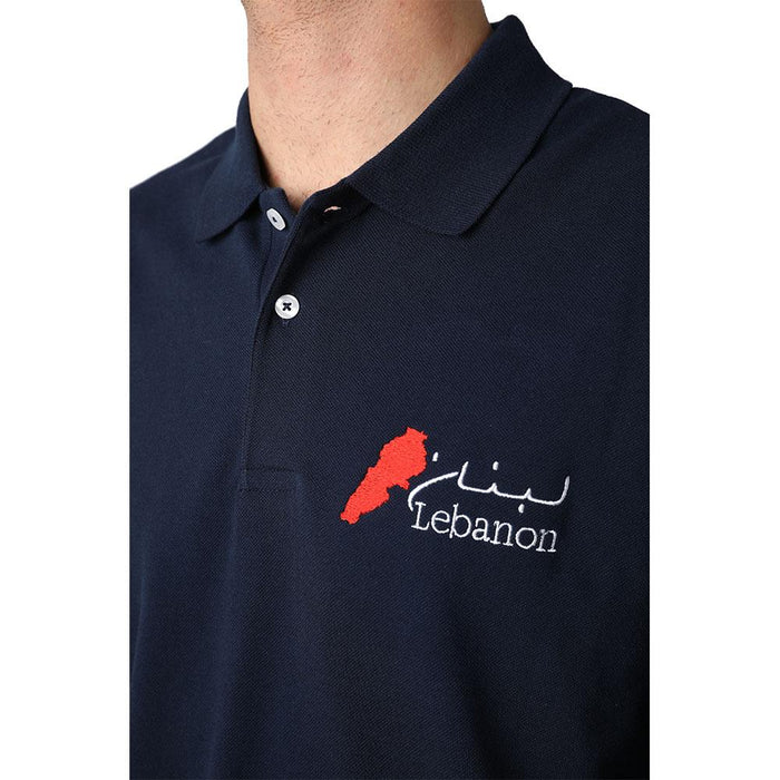 Long Sleeves Lebanon Navy Blue Polo