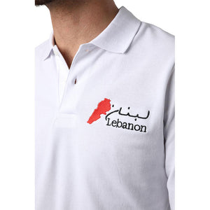 Long Sleeves Lebanon White Polo