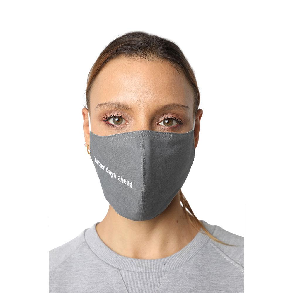 Better Days Ahead Grey Reusable Face Mask