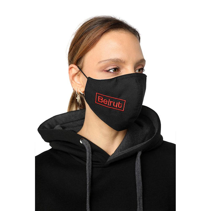 Beirut Black Reusable Face Mask