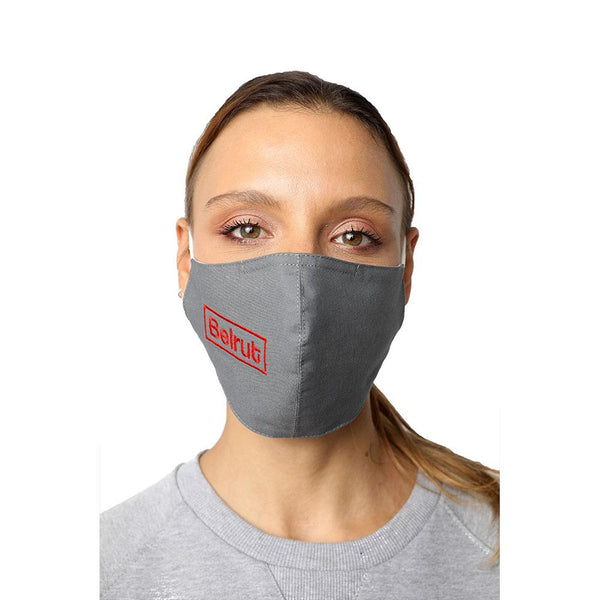 Beirut Grey Reusable Face Mask