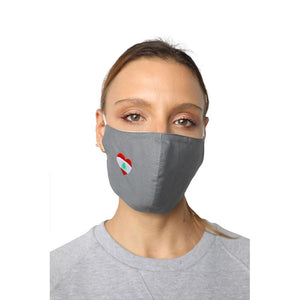 I Heart Lebanon Grey Reusable Face Mask