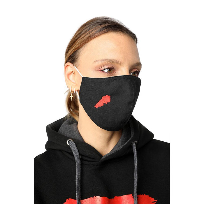 Lebanon Black Reusable Face Mask